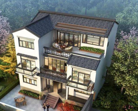 新中式风格轻钢别墅
